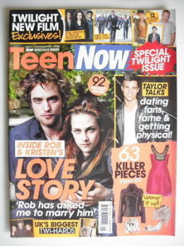 Teen Now magazine - Robert Pattinson and Kristen Stewart cover (July/August 2010)