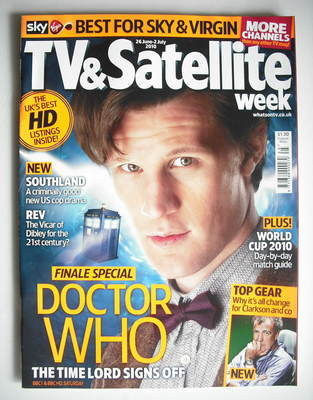 TV&Satellite Week magazine - Matt Smith cover (26 June - 2 July 2010)