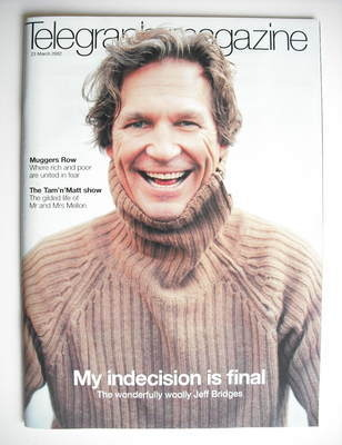 <!--2002-03-23-->Telegraph magazine - Jeff Bridges cover (23 March 2002)