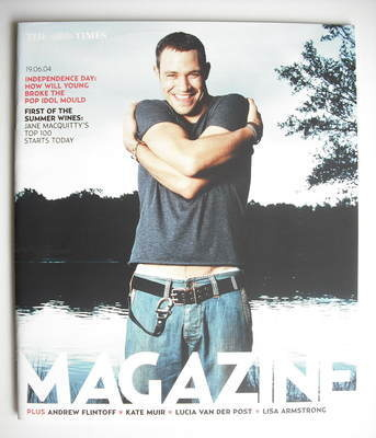 <!--2004-06-19-->The Times magazine - Will Young cover (19 June 2004)