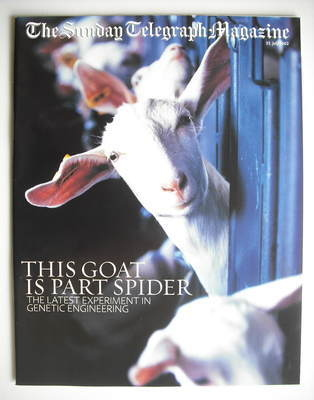 The Sunday Telegraph magazine - This Goat Is Part Spider cover (21 July 200