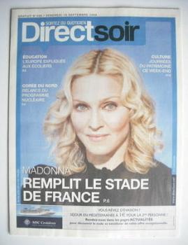 Direct Soir magazine - Madonna cover (19 September 2008)