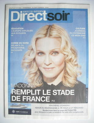 Direct Soir magazine - Madonna cover (19 September 2008)