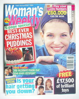<!--1995-11-14-->Woman's Weekly magazine (14 November 1995)