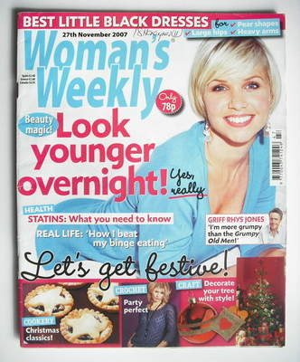 <!--2007-11-27-->Woman's Weekly magazine (27 November 2007 - British Editio