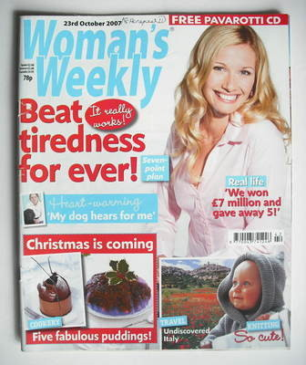 <!--2007-10-23-->Woman's Weekly magazine (23 October 2007 - British Edition