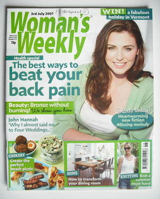 <!--2007-07-03-->Woman's Weekly magazine (3 July 2007 - British Edition)