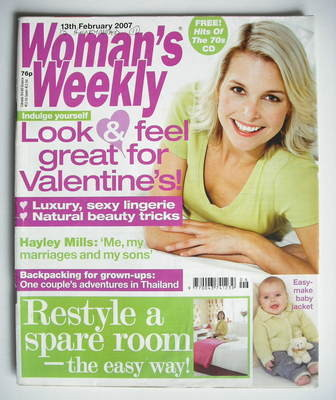<!--2007-02-13-->Woman's Weekly magazine (13 February 2007 - British Editio