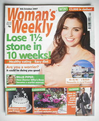 <!--2007-10-09-->Woman's Weekly magazine (9 October 2007 - British Edition)