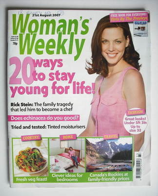<!--2007-08-21-->Woman's Weekly magazine (21 August 2007 - British Edition)
