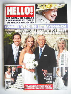 <!--2010-07-12-->Hello! magazine - Brendan Cole and Zoe Hobbs wedding cover