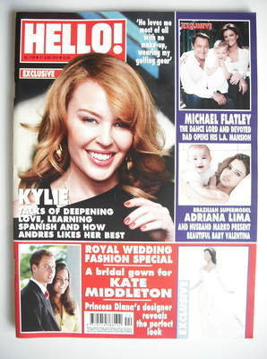<!--2010-06-21-->Hello! magazine - Kylie Minogue cover (21 June 2010 - Issu