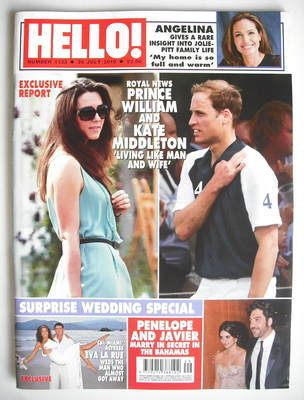 <!--2010-07-26-->Hello! magazine - Prince William and Kate Middleton cover