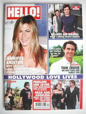 <!--2010-08-02-->Hello! magazine - Jennifer Aniston cover (2 August 2010 -