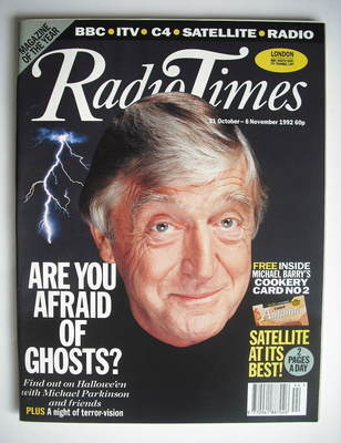 <!--1992-10-31-->Radio Times magazine - Michael Parkinson cover (31 October