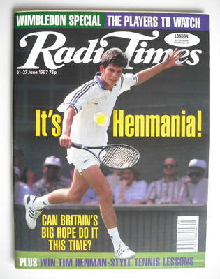<!--1997-06-21-->Radio Times magazine - Tim Henman cover (21-27 June 1997)