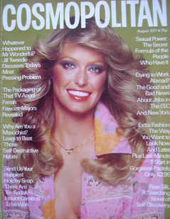 <!--1977-08-->Cosmopolitan magazine (August 1977 - Farrah Fawcett-Majors co