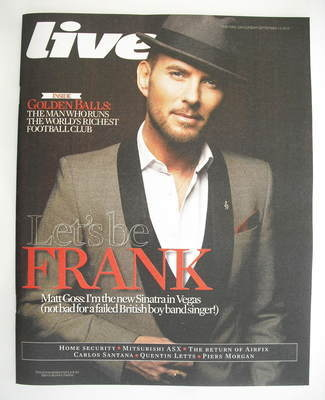<!--2010-09-12-->Live magazine - Matt Goss cover (12 September 2010)