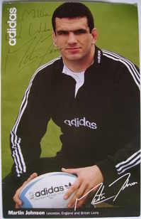 Martin Johnson autograph