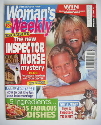 <!--1996-08-20-->Woman's Weekly magazine (20 August 1996)