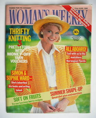 <!--1986-06-21-->Woman's Weekly magazine (21 June 1986 - British Edition)