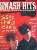 <!--1986-07-16-->Smash Hits magazine - Jesus And Mary Chain cover (16-29 Ju