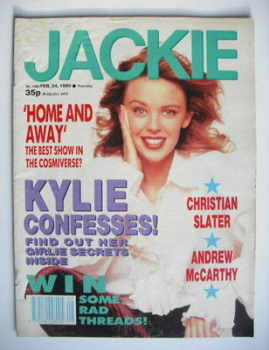 Jackie magazine - 24 February 1990 (Issue 1364 - Kylie Minogue cover)