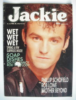 Jackie magazine - 25 February 1989 (Issue 1312 - Marti Pellow cover)
