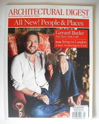 Architectural Digest magazine - May 2010 - Gerard Butler cover