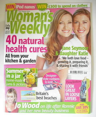 <!--2010-08-31-->Woman's Weekly magazine (31 August 2010 - Jane Seymour and