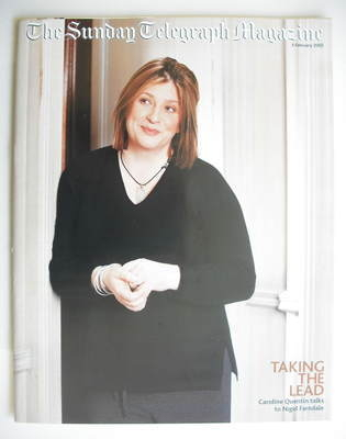 The Sunday Telegraph magazine - Caroline Quentin cover (3 February 2002)