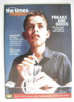 <!--2002-08-10-->The Times magazine - Freaks And Geeks cover (10 August 200