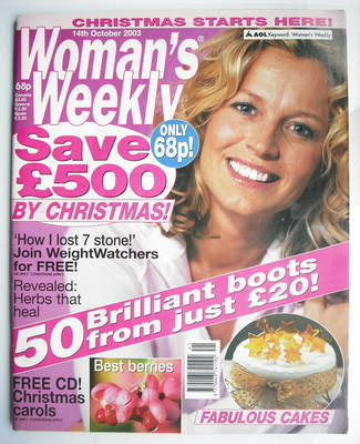 <!--2003-10-14-->Woman's Weekly magazine (14 October 2003)