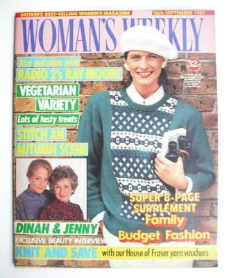 <!--1987-09-26-->Woman's Weekly magazine (26 September 1987 - British Editi