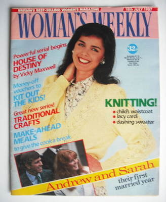 <!--1987-07-18-->Woman's Weekly magazine (18 July 1987 - British Edition)