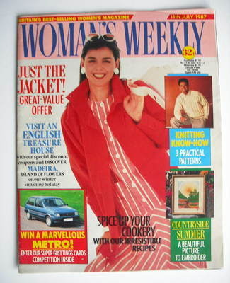 <!--1987-07-11-->Woman's Weekly magazine (11 July 1987 - British Edition)