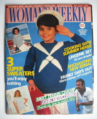 <!--1987-07-04-->Woman's Weekly magazine (4 July 1987 - British Edition)