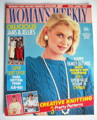 <!--1987-06-27-->Woman's Weekly magazine (27 June 1987 - British Edition)