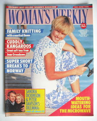 <!--1988-06-18-->Woman's Weekly magazine (18 June 1988 - British Edition)