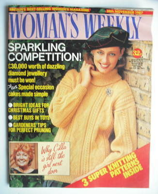 <!--1987-11-28-->Woman's Weekly magazine (28 November 1987 - British Editio