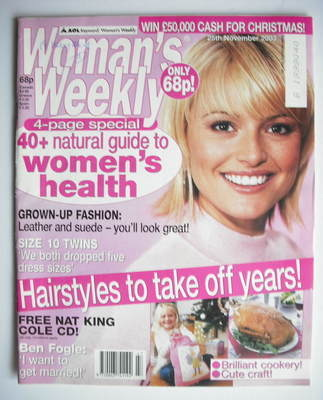 <!--2003-11-25-->Woman's Weekly magazine (25 November 2003)