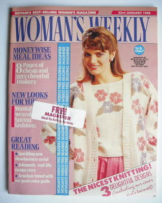 <!--1988-01-23-->Woman's Weekly magazine (23 January 1988 - British Edition