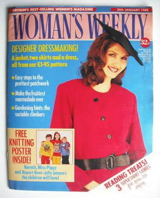 <!--1988-01-30-->Woman's Weekly magazine (30 January 1988 - British Edition