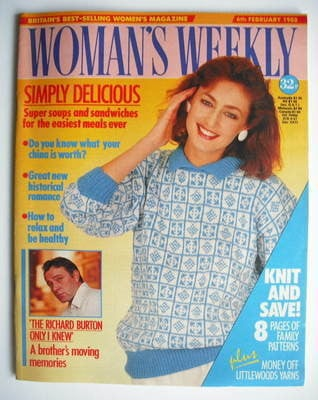 <!--1988-02-06-->Woman's Weekly magazine (6 February 1988 - British Edition