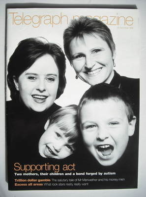 <!--1998-12-12-->Telegraph magazine - Supporting Act cover (12 December 199