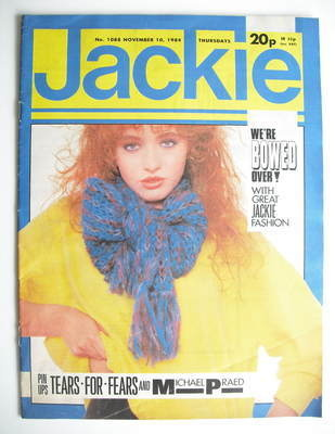 <!--1984-11-10-->Jackie magazine - 10 November 1984 (Issue 1088)