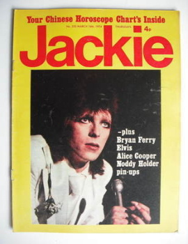 Jackie magazine - 16 March 1974 (Issue 532 - David Bowie cover)