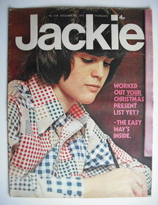 <!--1973-12-08-->Jackie magazine - 8 December 1973 (Issue 518 - Donny Osmon