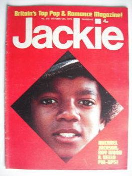 Jackie magazine - 13 October 1973 (Issue 510 - Michael Jackson cover)