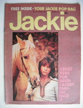 Jackie magazine - 9 June 1973 (Issue 492 - David Cassidy cover)